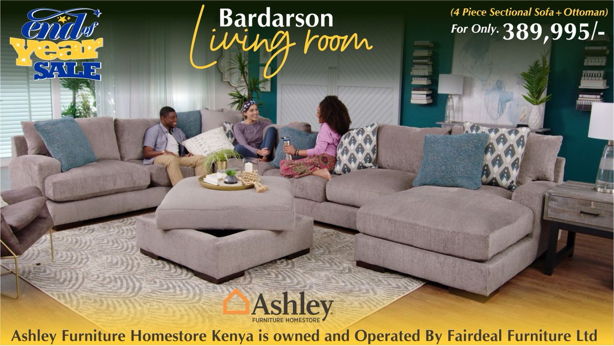 Ashley Furniture Homestore Kenya On Twitter A Feast For The Eyes And Pleasure For The Senses The 4 Piece Bardarson Sectional Is Style And Comfort Taken To A Higher Level Bardarson Sectionalseating Newarrivals Contemporaryliving