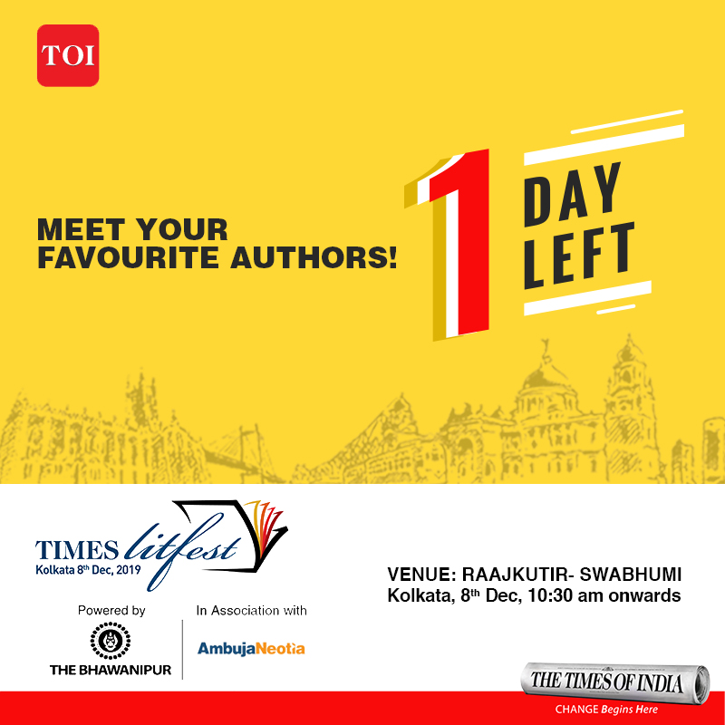Now you can interact with the authors you love at the #TimesLitFestKolkata on the 8th of Dec, 10:30 am onwards at Raajkutir - Swabhumi  Know more:  http:// toi.in/timeslitfestko lkata  …   #TLFKolkata #TimesLitfestKolkata2019 #SwabhumiRaajkutir #Kolkata #BookLovers #BookReaders #Countdown #1Day<br>http://pic.twitter.com/KVxK5oGcUt
