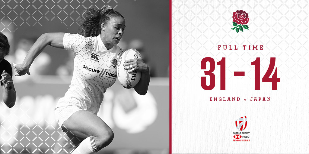 test Twitter Media - England women beat Japan in their final group match at the #Dubai7s   They will now face Ireland on day 3️⃣ 🏴🇮🇪  Full report ➡️ https://t.co/f0uzI13Wy2 https://t.co/Zhmtqf1UyY