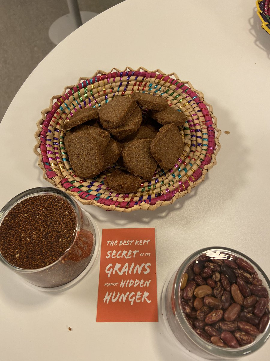 Very exciting business innovations showcased at #IBF2019: Hidden in Grain, one of the  receivers of our Expert Group funding,  use indigenous grains to make nutritious healthy delicious foods ( see their cookies made from millet and beans on the photo) http://hiddeningrains.sepic.twitter.com/LOeqAJ06Mv