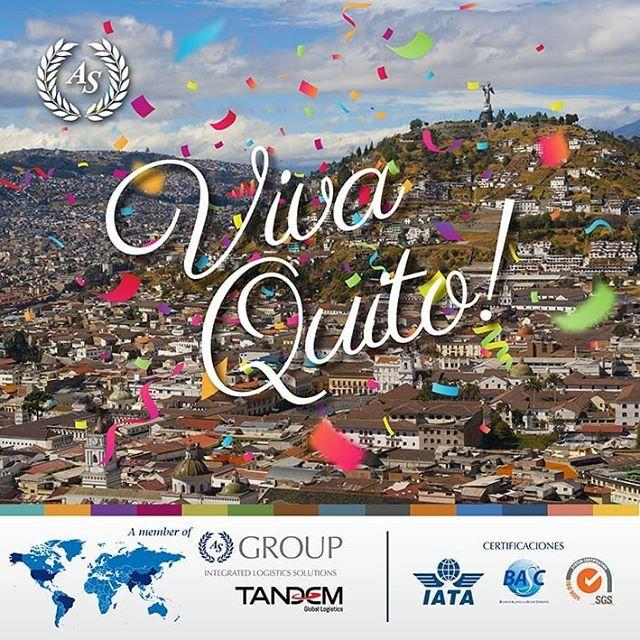 Hoy, Quito nuestra hermosa capital se ha prendido de emoción y espíritu festivo! Que viva su aniversario de Fundación! ¡Nuestro homenaje a la carita de Dios!  #VivaQuito #UIO #Logistics #asgroup #export #import #business #AsiaShipping #Transporte #Logíst… https://ift.tt/2Lvhhj9pic.twitter.com/WdpnYn3djT