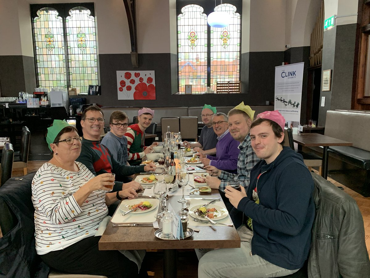 The @alertmessages team are all in prison! Actually we are supporting a superb #SocialValue project in Cheshire, enjoying a fitting early Christmas meal at The Clink Restaurant HMP Styal @TheClinkCharity