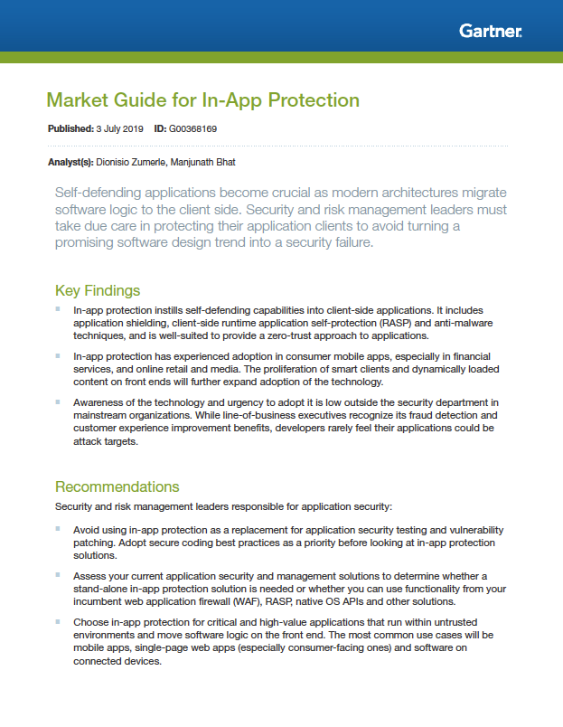 Read @Gartner_inc Market Guide for In-App Protection  https:// hubs.ly/H0m0Sm10     - @Cleafy addresses all main threats, including Repackaged Apps, Script Injection, SMS Grabbing, App Overlay, API Scraping/Abuse #mobileApps #malware-detection<br>http://pic.twitter.com/NLOPzl3IXy