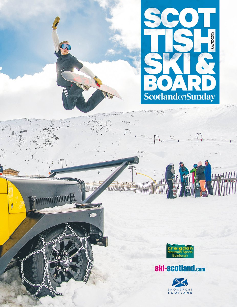 In this weekends @scotonsunday, dont miss your free Scottish Ski & Board magazine, featuring training tips from @AlexSkiTilley, @musgraveandrew, @McCormicksnow and Kirsty Muir, @ridingswitchs guide to the best snow beds and Helen Rennie on spending 120 months on Scottish snow