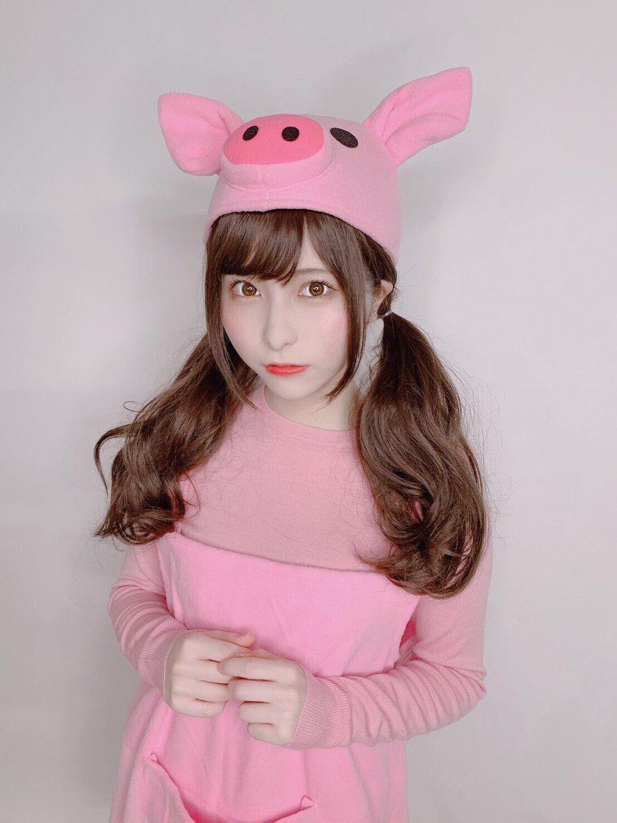 うらまるといえば豚ということで豚になりました。ぶたまる🐷
