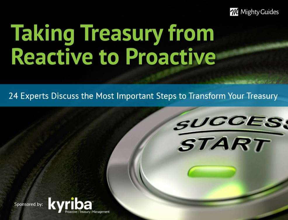 Taking Treasury from Reactive to Proactive. #Treasury management has evolved: use the expert advice in this ebook to keep your treasury department relevant and up-to-date. @Kyribacorphttps://mightyguides.com/kyriba-taking-treasury-from-reactive-to-proactive/…