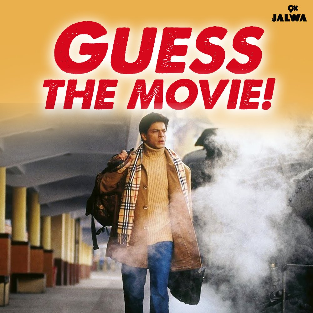 Replying to @9XJalwa: This one's for all the @iamsrk fans! We are sure you don't a hint for this one. 😃 #GuessTheMovie