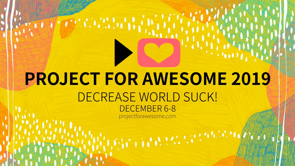 #ProjectForAwesome  is set out to raise money to make the World a better place! Join the @vlogbrothers  livestream now to support @savethechildren , @PIH  and more:  http://projectforawesome.com/live