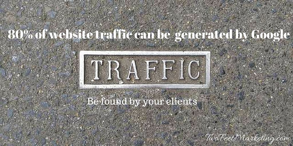 80% of traffic can come from #Google. Use #seo to be found!