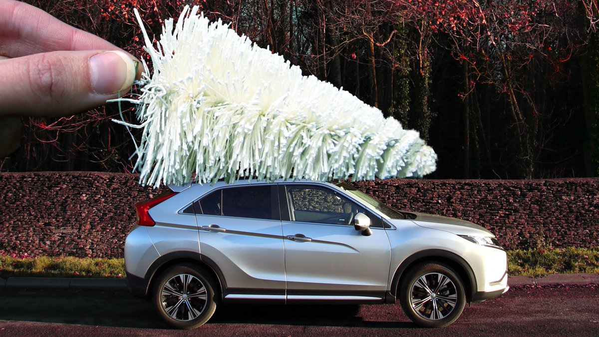 This weekend is for wading through mud & branches to get your hands on the cream of the crop... your Christmas Tree. 🎄  #DrivingChristmasTogether #EclipseCross
