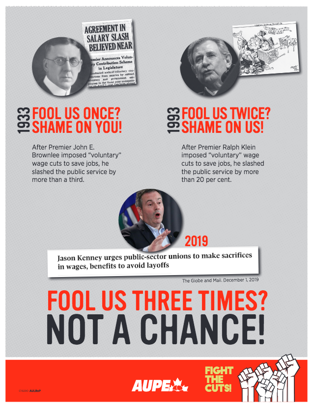 Premier @jkenney and his Finance Minister Travis Toews must think we have very short memories.  Guess what? We don't.  #ableg #ablabour #canlab #Solidarity<br>http://pic.twitter.com/vhPlOhLERo