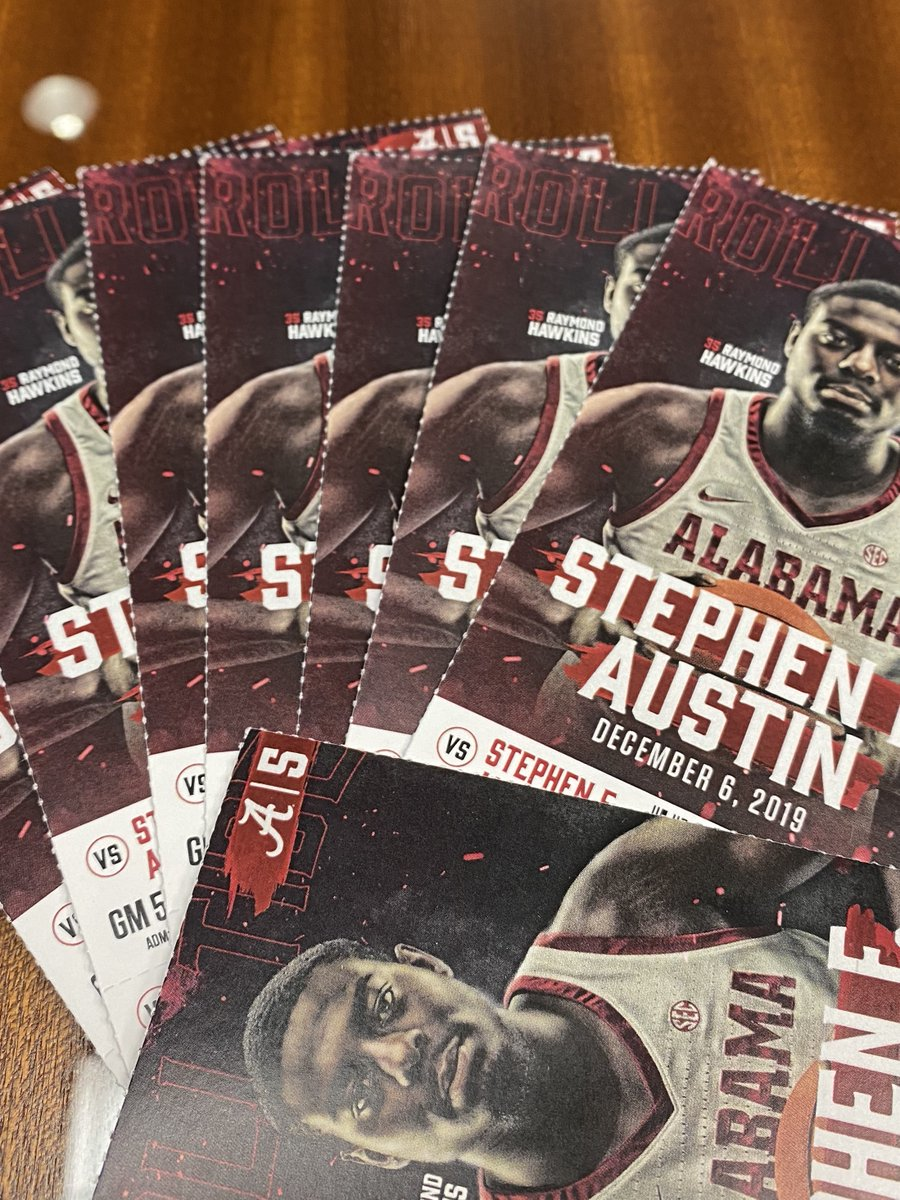 GIVEAWAY! I will randomly select 4 people by 1:30 pm to win 2 tix for 🏀 tonight who tweet - Hey @Greg_Byrne, I want to come to the @AlabamaMBB game tonight! I also heard you can park free in the Capstone Deck across the street. #RollTide🐘 Respond only if u can attend. GO!