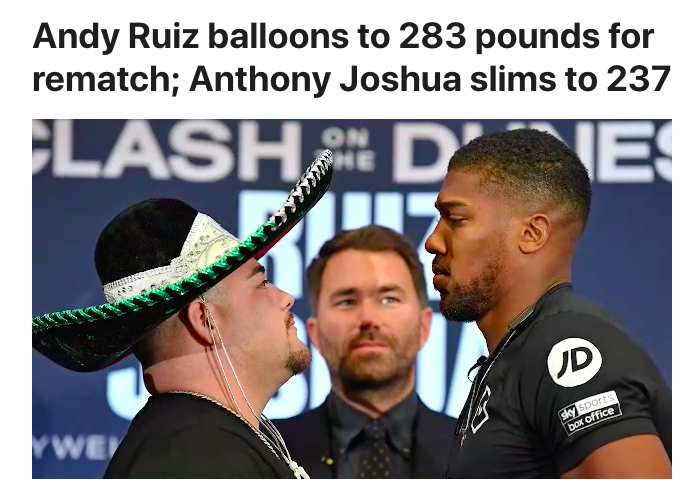 ESPN Guilty of Fat Shaming. Care to comment @espn? #FatShaming #boxing #RuizJoshua2 https://bestbetboys.com/blogs/news/espn-guilty-of-fat-shaming-sad…