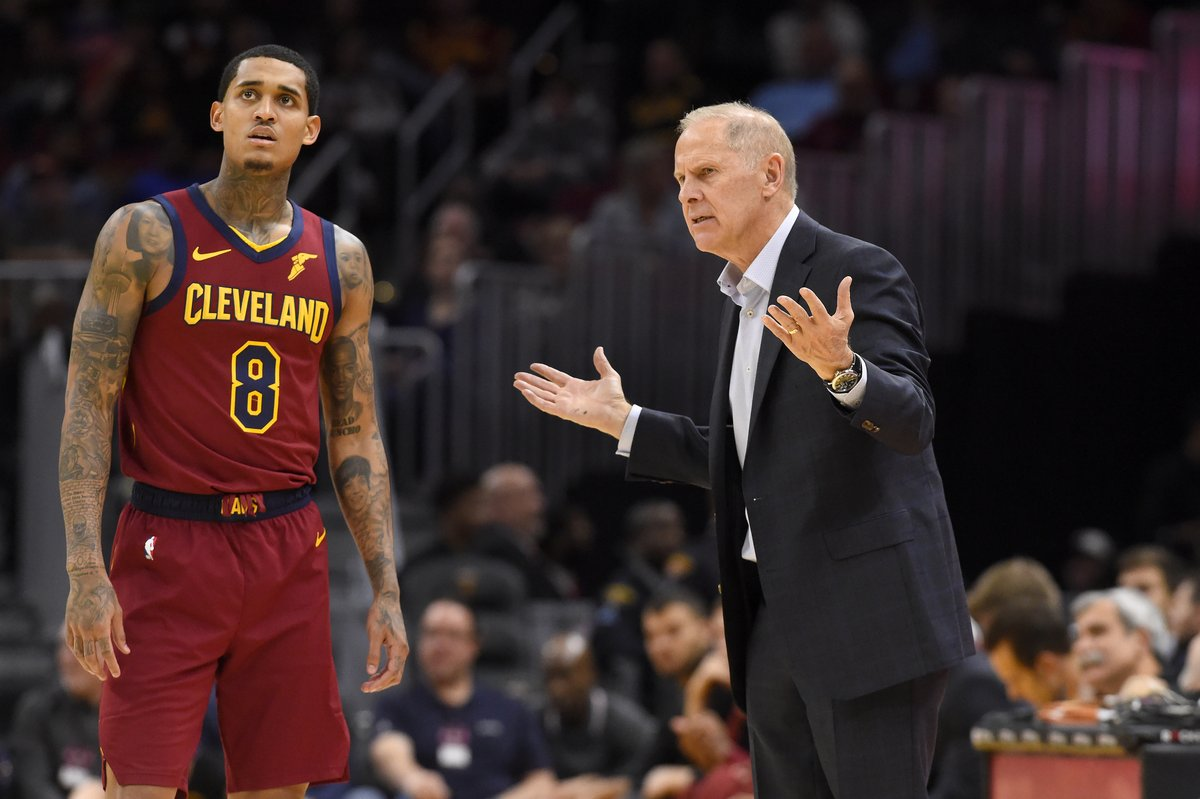 """Guys drowned out his voice…""Amid 5-15 start, Cavs players are upset at head coach John Beilein for treating the season and team like they are ""still in college,"" per @ShamsCharania and @joevardon"
