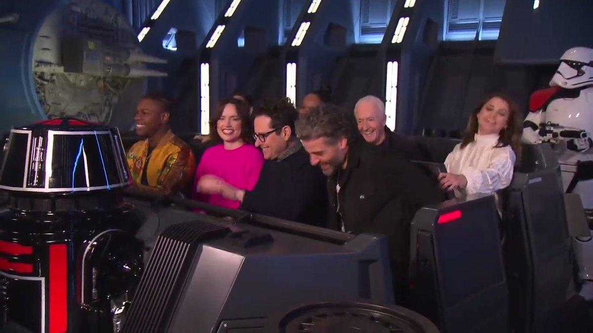 VIDEO: The cast of #StarWars: #TheRiseOfSkywalker recently previewed the Star Wars: #RiseoftheResistance attraction in Star Wars: #GalaxysEdge!