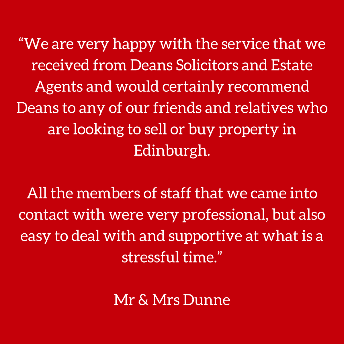 #FeedbackFriday 😀 We understand buying or selling can be stressful but Team Deans are on hand to help! To arrange a Free Valuation or for advice on Purchasing call 0131 667 1900 📞 #deansmeans #greatservice #property #buying #selling #edinburgh