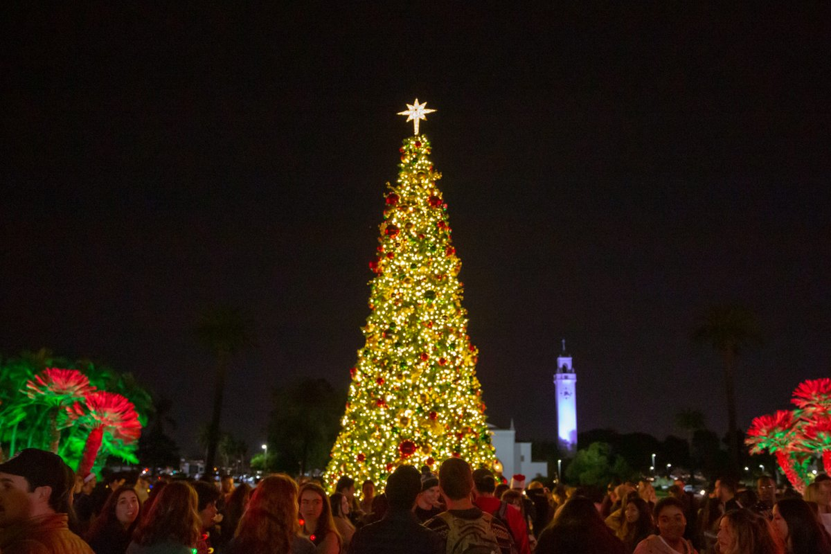 The most wonderful time of the year is here! #LMUs holiday celebrations kick into high gear tonight from 5 to 8 p.m. w/ @myASLMUs Christmas Tree Lighting on Regents Terrace! 🎄bit.ly/33QxaH6