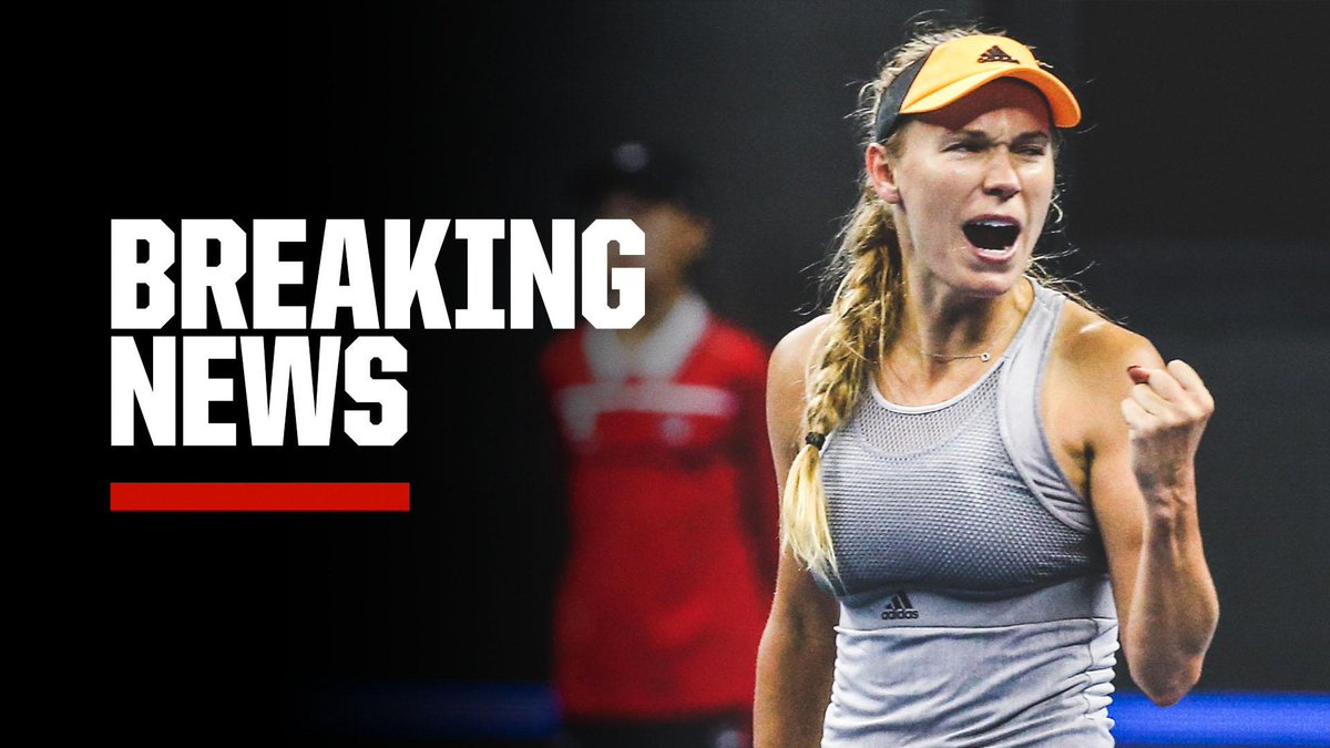 Breaking: Caroline Wozniacki announces that she will retire after 2020 Australian Open.