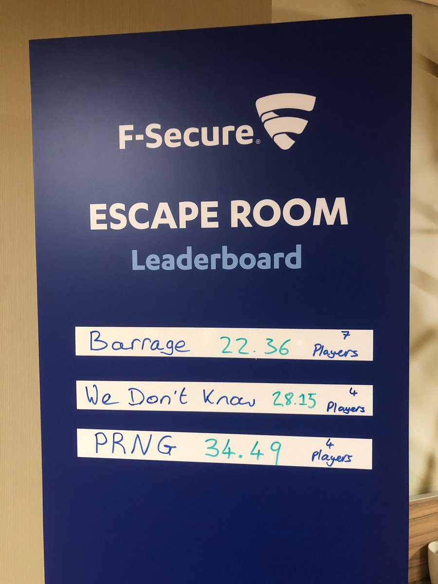 At @44CON? Can you beat Team Barrage? Put your #cybersecurity skills to the test in our escape room and help uncover compromised systems. Hurry, there's only two sessions left... | #infosec #44con