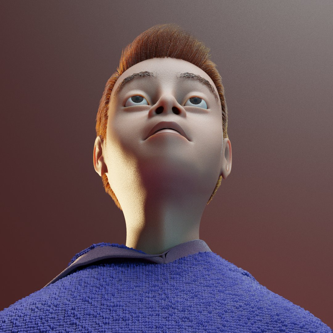 Character made with Blender.
