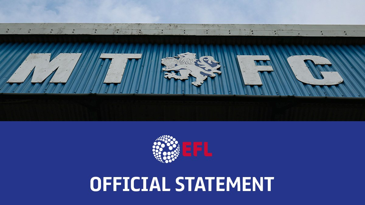 Image for the Tweet beginning: EFL Statement: Macclesfield Town v