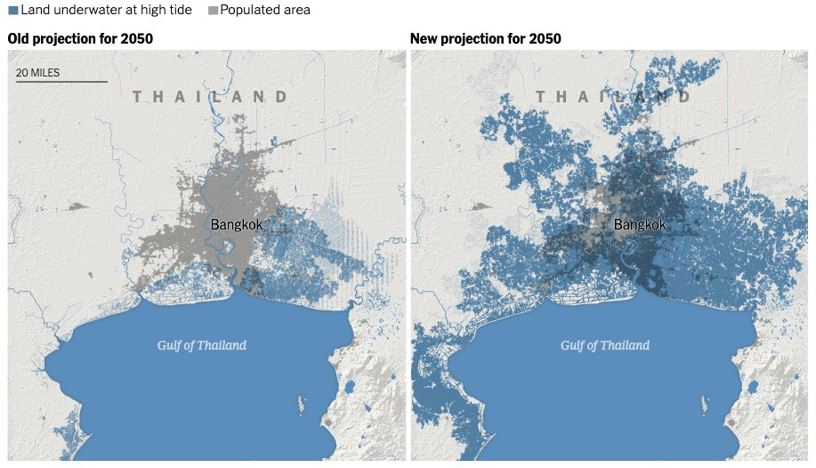 Join us in the Design Forum at @DesignMiami at 4pm today to discuss the challenges of rising tides in the city and beyond — and explore potential design solutions for this pressing issue. These maps reveal the scale of the problem globally:  https:// arc.ht/2WM5lxR    <br>http://pic.twitter.com/Avja0fTEcp