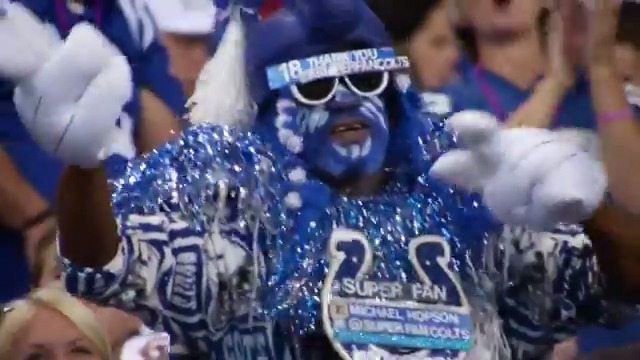 """""""When those big gloves go up, we just rock 'n' roll and shake and bake."""" Get to know Michael, more widely known as #Colts Superfan. #FanFridays 