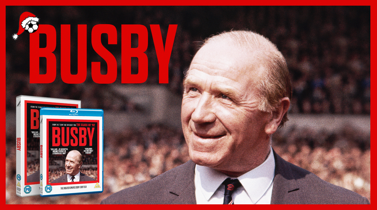It's derby day! RT for a chance to #win a BUSBY DVD & Blu-Ray bundle ⚽ #MUFC #MCIMUN #Advent