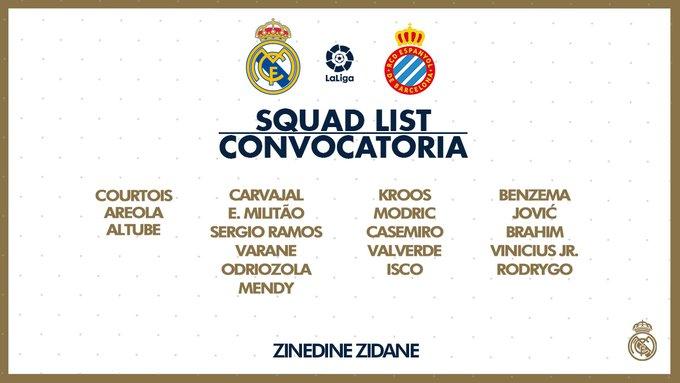 ELHOksRWwAAP0Ir?format=jpg&name=small Zidane convoca a 19 jugadores para recibir al Espanyol - Comunio-Biwenger