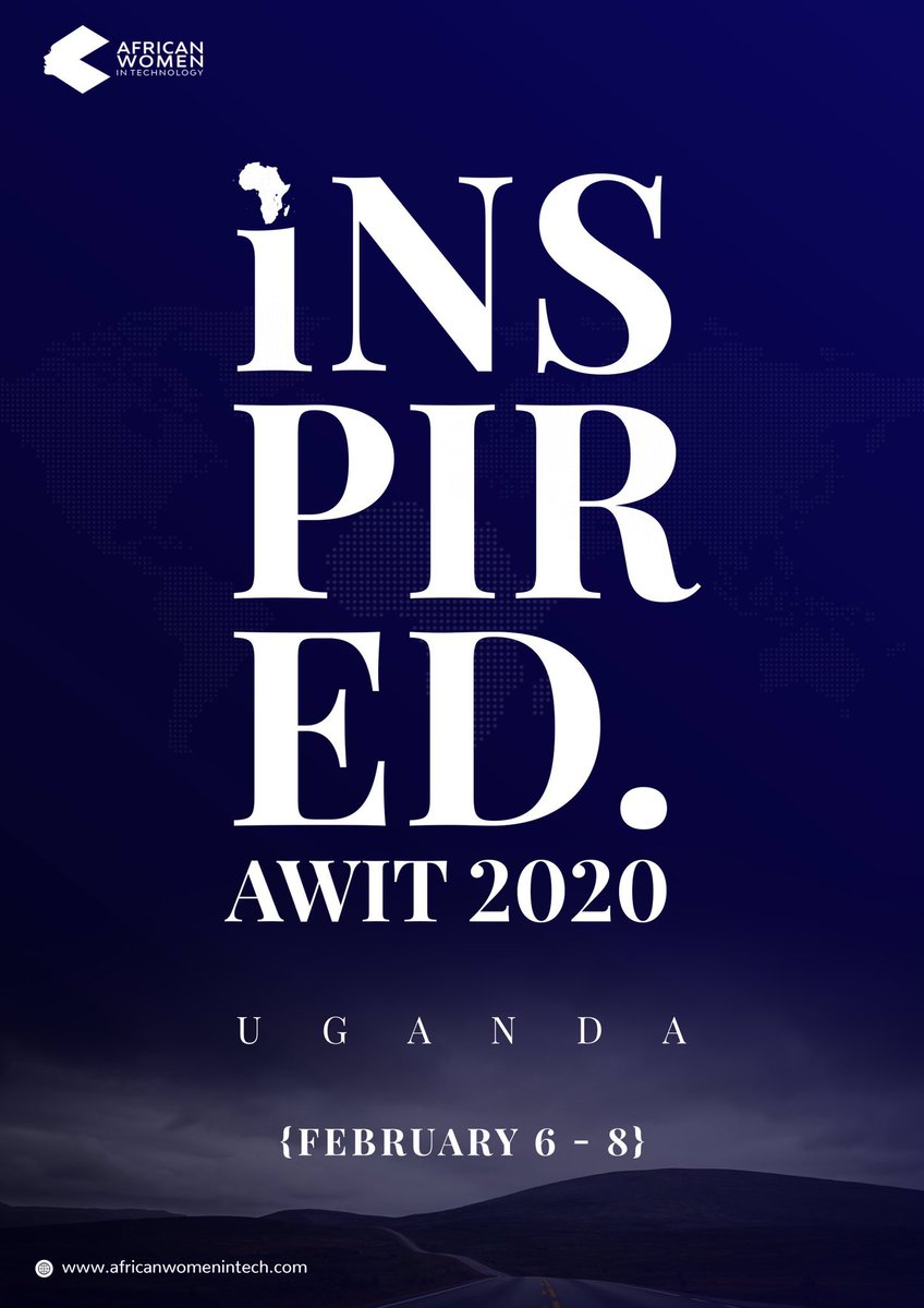 It's exactly two months to the date of our Ugandan conference! Have you gotten your tickets yet? Tickets available for sale at https://www.eventbrite.com/e/african-women-in-tech-uganda-awituganda20-tickets-76781793411?utm-medium=discovery&utm-campaign=social&utm-content=attendeeshare&utm-source=strongmail&utm-term=listing… #womenintech #inspired2020 #AWITUganda20 pic.twitter.com/0yjZjqKag0