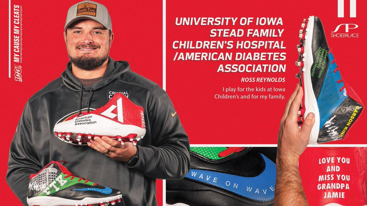 Thanks to @Ross_Reynolds59 of the @49ers, another former @HawkeyeFootball player, who will also be supporting our hospital! 💛🖤