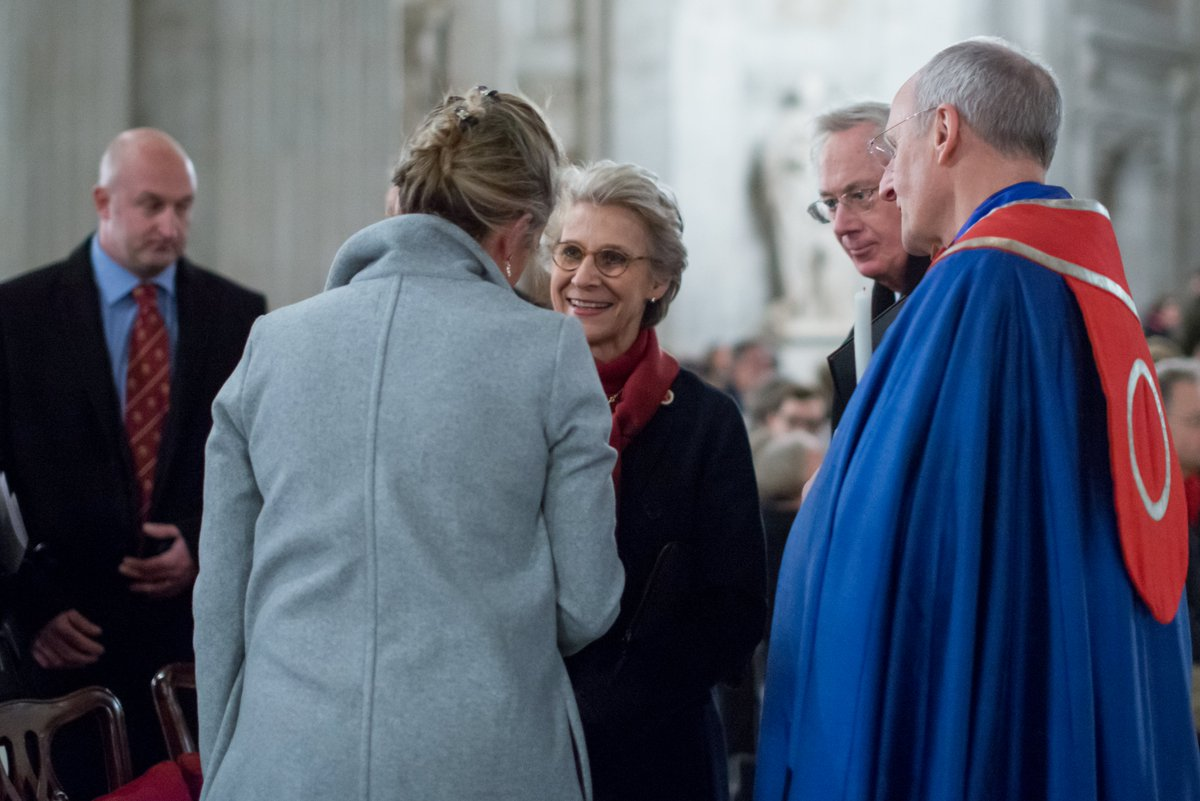 The Duke and Duchess of Gloucester attended the Advent Procession at St Paul's Cathedral, London, this week. The Duchess is Patron of the Friends of St Pauls Cathedral, a role previously held by Queen Elizabeth The Queen Mother.