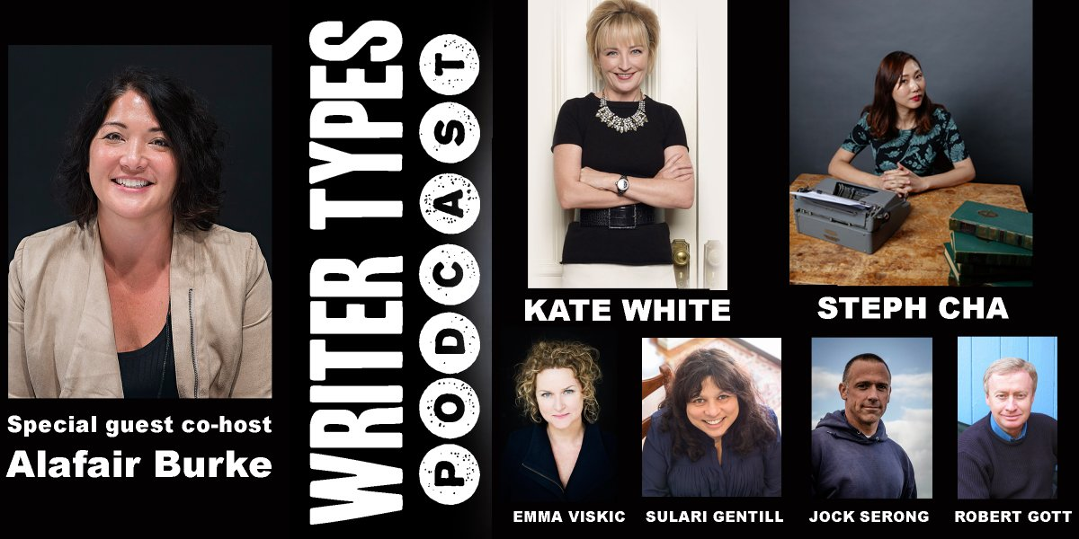 I got to co-host @writertypes so I picked two writers I respect tremendously to interview: @katemwhite and @stephycha! Thanks @ericbeetner.