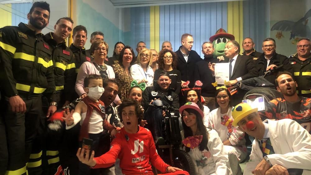 Mototerapia e solidarietà: in pediatria a Conegli...