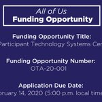 Image for the Tweet beginning: FUNDING OPPORTUNITY: We've issued a