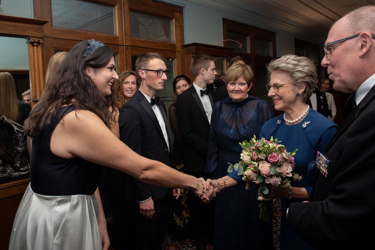 The programme provides financial support to Danish and British graduates pursuing further education. The Duchess met scholars who have been supported by the Society, and heard about their studies in music, immunology and neuroscience.