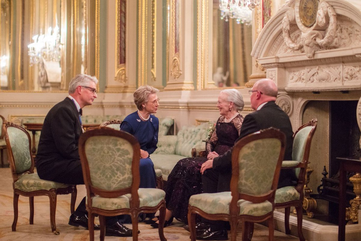 The Duchess of Gloucester joined Her Majesty Queen Margrethe II of Denmark at the anniversary event.