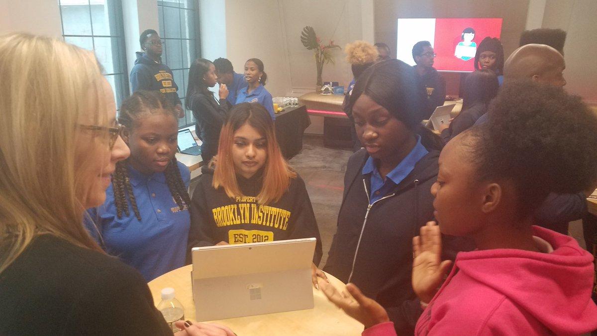Nice reception for my speech at Microsoft. #FridayMotivation @bilanyc students are amazing! #NYSMBK #edtech