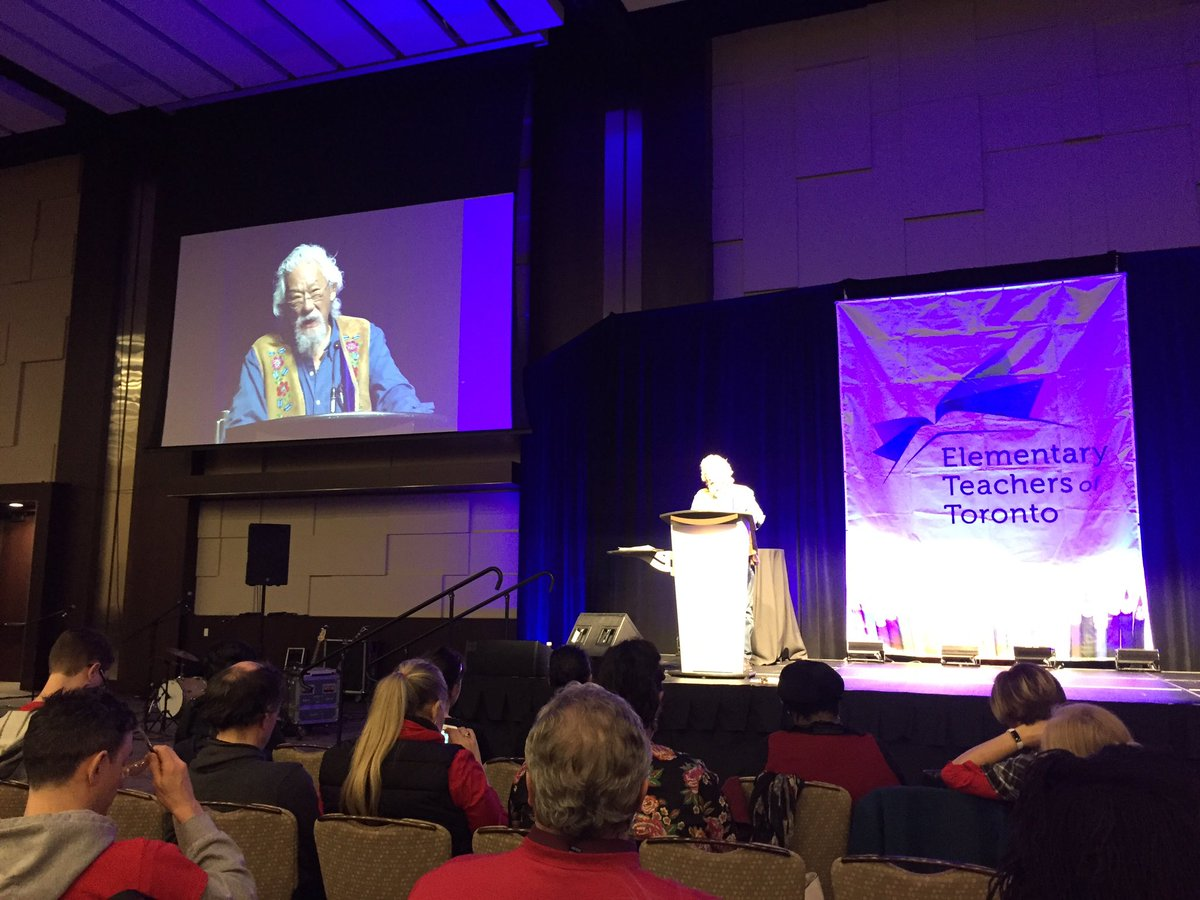 """@DavidSuzuki: """"We don't know enough to be able to apply the power that we have intelligently."""" #FedDay2019"""
