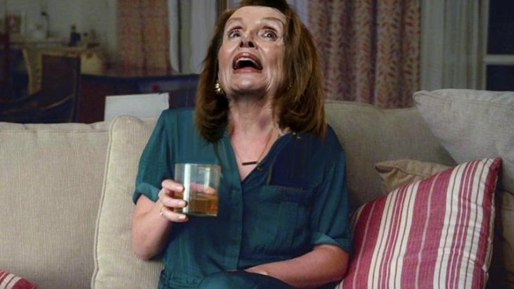 Do you think Nanshy Peloshi has a drinking problem, or is she suffering from some sort of neurological disorder? Look at her bizarre outbursts, slurred speech, shaky hands, facial tremors and frequent bouts of brain freeze. Whatever it is, she needs to get some professional help.