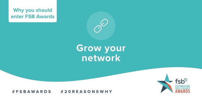 Why enter the #FSBAwards 2020? Meet other small business owners and build relationships for the future - thats a good enough reason for us! #20reasonswhy @FSB_Wales