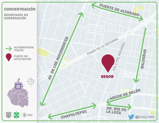 10:48 #PrecauciónVial corte a la circulación en Abraham González a la altura de Gral. Prim, por presencia de manifestantes. Consulte aquí #AlternativaVial