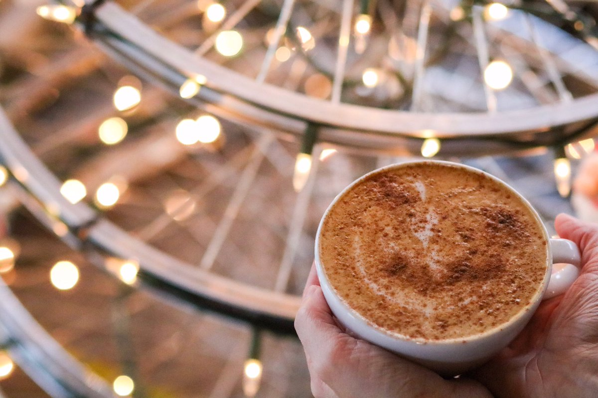 Our new cozy winter beverage is... the #Snickerdoodle latte! Honey and cinnamon blend beautifully to produce a warm hug in a mug. #stlcoffee