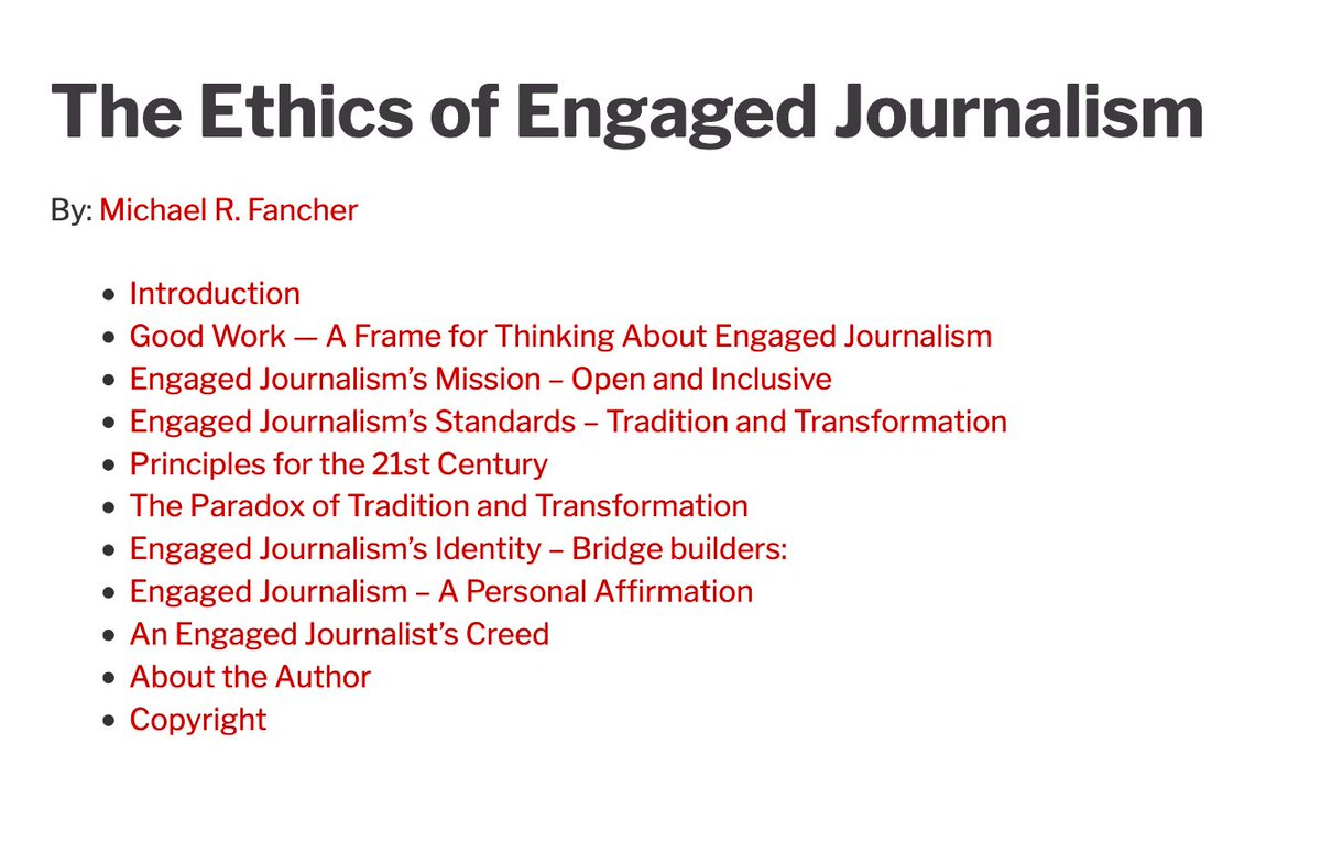 Image for the Tweet beginning: The Ethics of Engaged Journalism