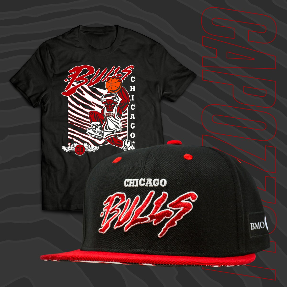 The first 🔥 @BMOHarrisBank hat series giveaway for those attending tonight's game!   This hat was designed by Chicago-based artist Louie Capozzoli (http://instagram.com/louiecapozzoli/).  More about the artist and upcoming hat giveaways: https://on.nba.com/2Ylw3yj