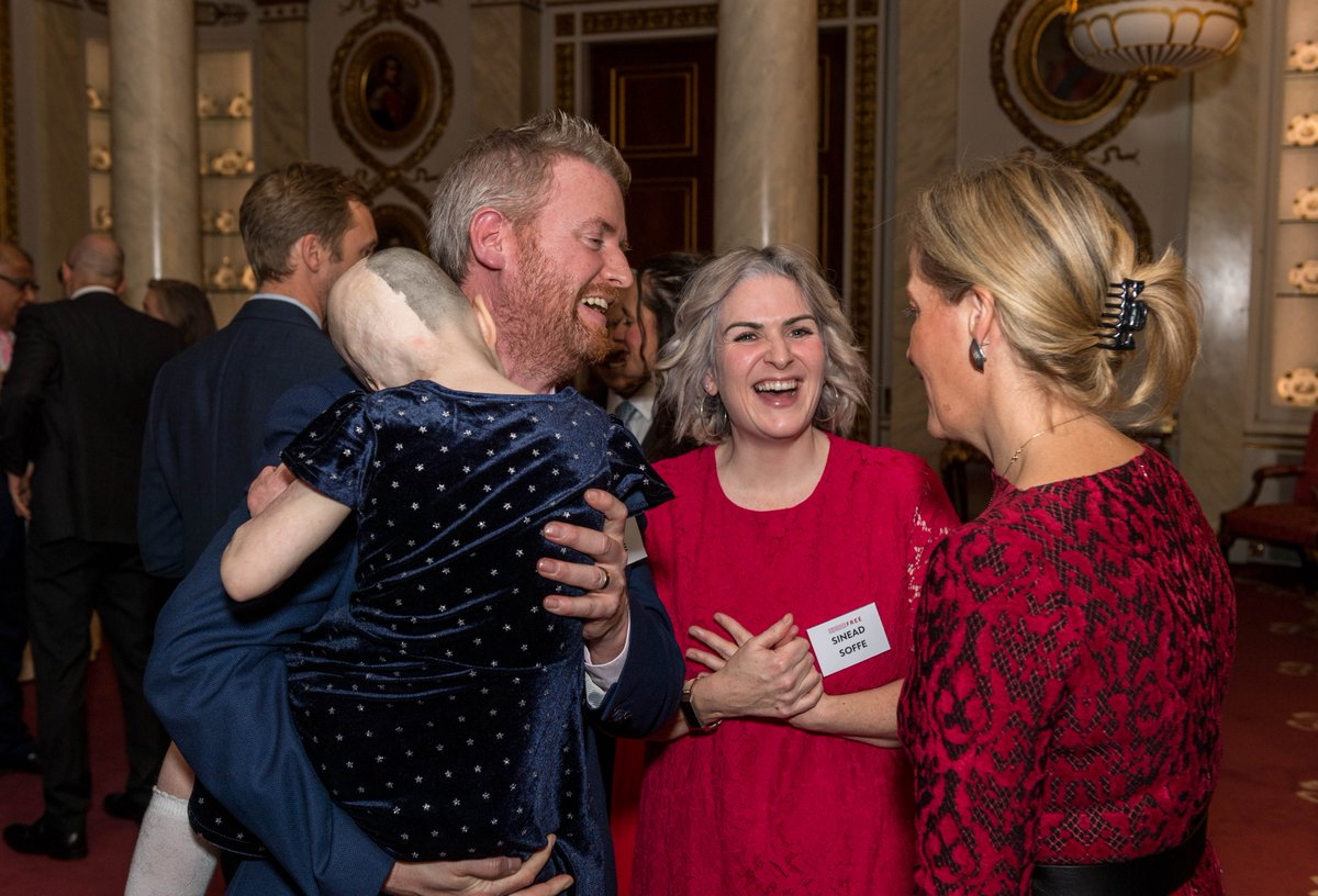 The Countess of Wessex, as Patron of the Scar Free Foundation, hosted an afternoon tea at Buckingham Palace on Wednesday to mark the Foundation's 20th anniversary. @scarfreeworld is focused on advancing medical research in the areas of wound healing, burns and cleft lips.