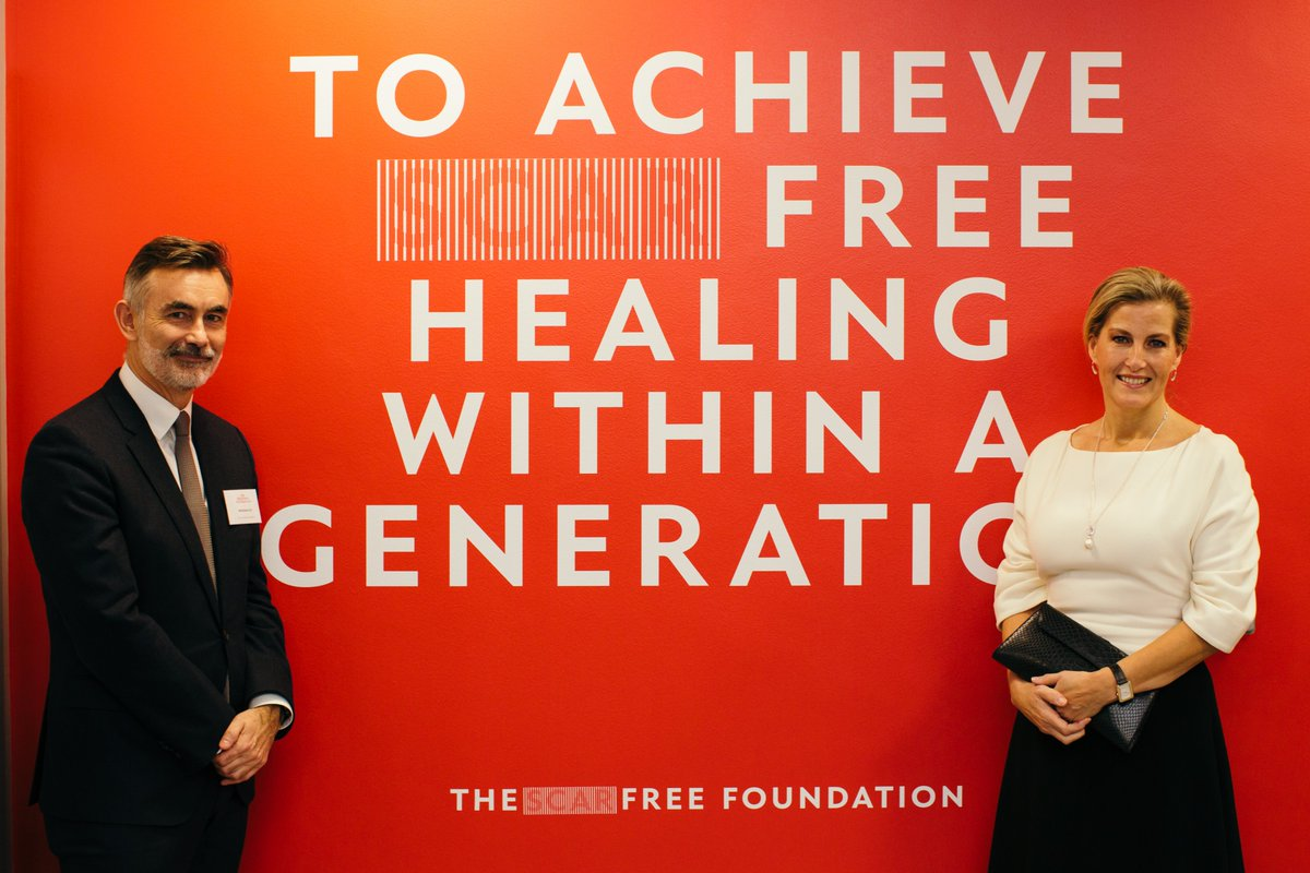 Her Royal Highness has been Patron of @scarfreeworld since 2002, and last November opened the Foundation's Centre for Conflict Wound Research at Queen Elizabeth Hospital, Birmingham.