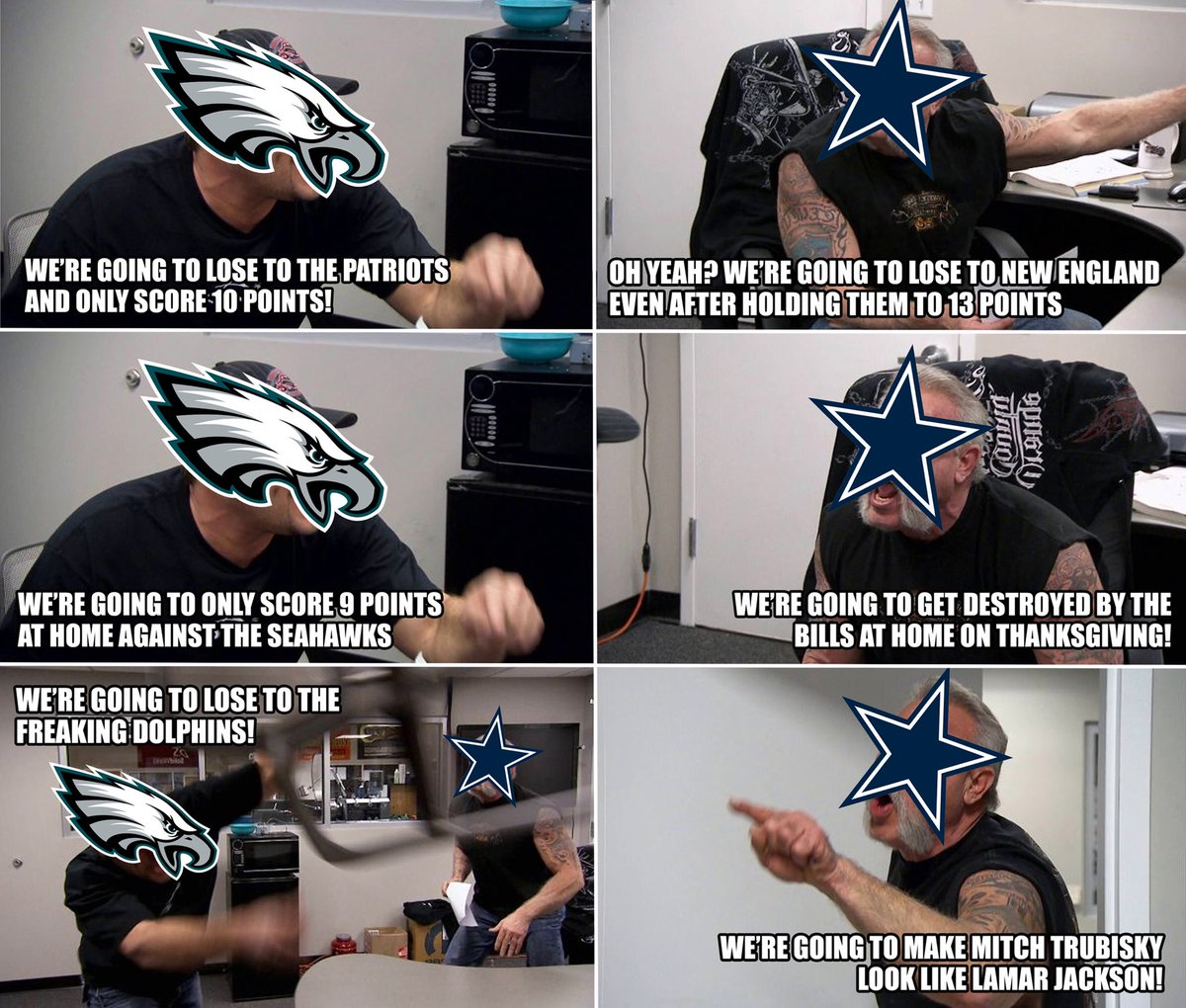 Nfl Memes On Twitter Live Look In At The Battle For The Nfc East