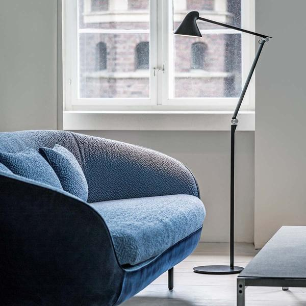 Louis Poulsen 20% Off #sale ends sunday! This NJP Floor #Lamp features a long adjustable arm that provides soothing #light anywhere in your #home.  Designer: Nendo Design Studio + Sato, Brand: Louis Poulsen View this design: