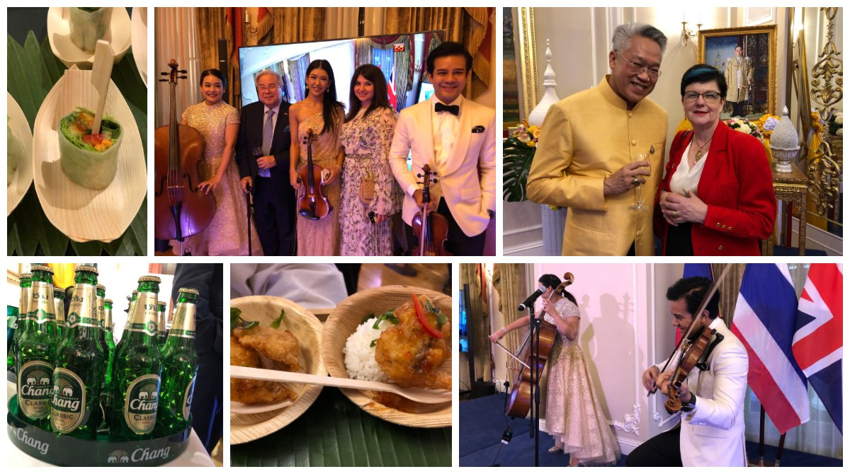 test Twitter Media - Pleasure to toast Thailand's National Day in stunning refurbished embassy with Amb Pisanu & Madame Suvanajata & catch up with @LNevilleRolfe (Chair of @UKABC)Thank you Ambassador & @ThaiEmbLondon for hospitality (& tour of karaoke bar!) You take party diplomacy to the next level! https://t.co/O94oXFAU51